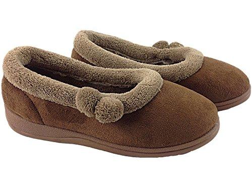 Shoestore - Zapatillas de estar por casa para mujer Marrón - marrón