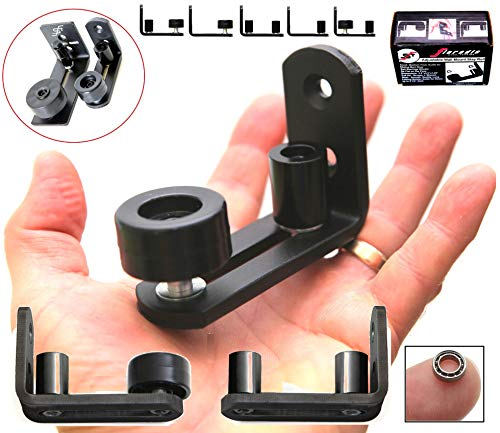 - NEW * FLORADIS SMALL STAY ROLLER FLOOR GUIDE for BOTTOM of SLIDING BARN DOORS / SITS FLUSH to the FLOOR/ ULTRA SMOOTH FULLY ADJUSTABLE MULTIPLE SETUPS WALL MOUNT STOP GUIDES/ BALL BEARINGS WHEELS