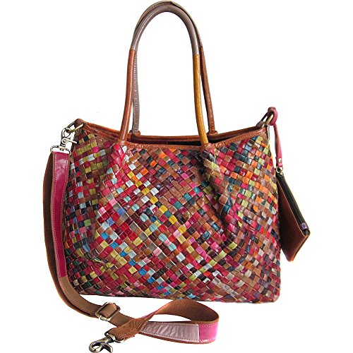 AmeriLeather Linwood Leather Tote Bag (Rainbow) ()