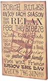 """Your Hearts Delight 12"""" W x 19"""" H Porch Rules Wooden Sign. Your Hearts Delight by Aubrey provides primitive home decor items including seasonal items, everyday products, garden and patio creations, charming stitchery and so much more. This ac..."""