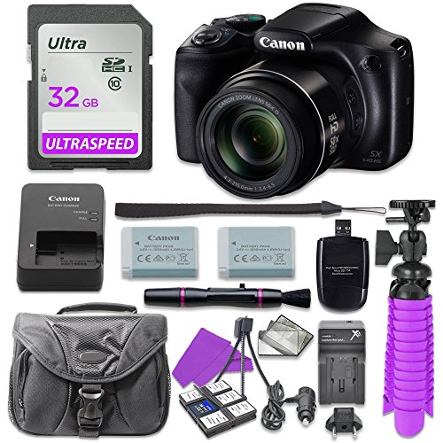 Canon PowerShot SX540 Digital Camera with 32GB SD Memory Card + Accessory Bundle (Powershot Canon Series Sx)