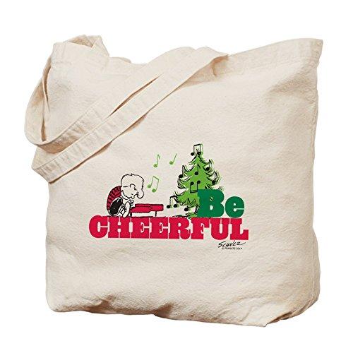 CafePress–el Peanuts: ser alegre–Gamuza de bolsa de lona bolsa, bolsa de la compra