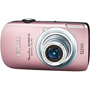 Canon PowerShot SD960IS 12.1 MP Digital Camera with 4x Wide Angle Optical Image Stabilized Zoom and 2.8-inch LCD (Pink)