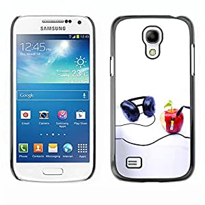 Soft Silicone Rubber Case Hard Cover Protective Accessory Compatible with SAMSUNG GALAXY S4MINI - Funny Apple Music Player