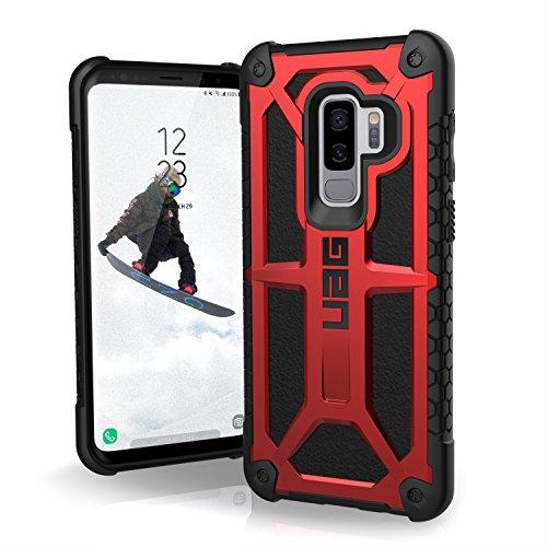 URBAN ARMOR GEAR [UAG Samsung Galaxy S9 Plus [6.2-inch Screen] Monarch Feather-Light Rugged [Crimson] Military Drop Tested Phone Case