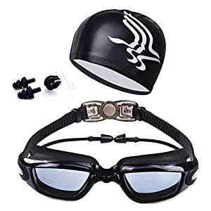 Fanceey High Definition Waterproof and Anti Fog Swimming Goggles, Men's and Women's Frames, Swimming Goggles and…