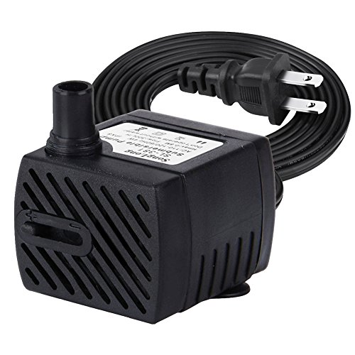 Minerva 63 GPH Submersible Water Pumps For Aquarium, Tabletop fountains, Pond, Water gardens and Hydroponic systems with One Nozzles, CE-ROHS Approved, 5.9ft Power Cord