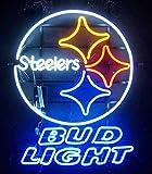 Desung New 32''x24'' BudLight Sports Team P-Steelers Neon Sign (Multiple Sizes) Man Cave Bar Pub Beer Handmade Neon Light EX06
