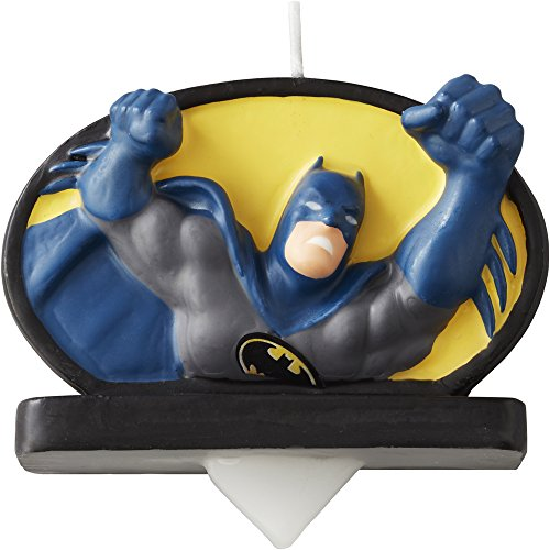 Wilton Batman Birthday Candle Multicolor product image