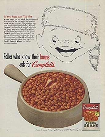 7fc02f8ae3e Amazon.com  Folks who know their beans ask for Campbell s ad 1955 boy coonskin  cap COL  Entertainment Collectibles