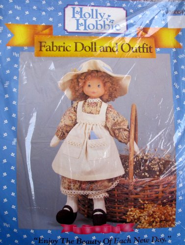 HOLLY HOBBIE Fabric DOLL and OUTFIT CRAFT Doll MAKING Kit w Vinyl DOLL HEAD & ARMS, Fabric & MORE! (1991)]()