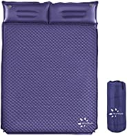 FRUITEAM Double Sleeping Pad for Camping 2 Person - Self-Inflating Camping Pads and Mats with Pillow Sleeping