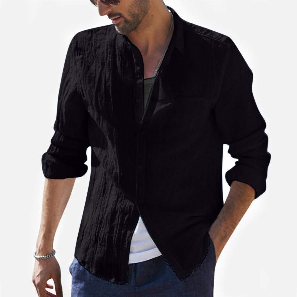 Amazon.com: JOYFEEL - Blusa de algodón con botones sueltos ...