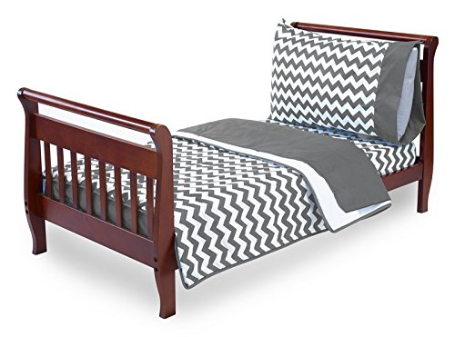 BabyDoll Chevron Toddler Bedding, Grey 705td