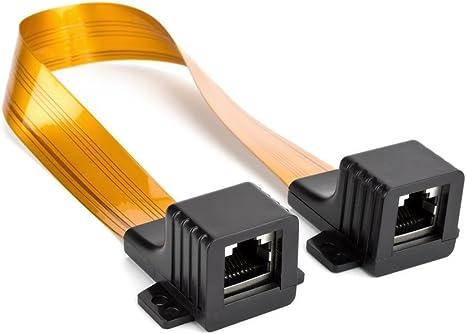 Ancable Fantasma Alambre Plano Cable de Puente para Ethernet CAT5o CAT6Cable