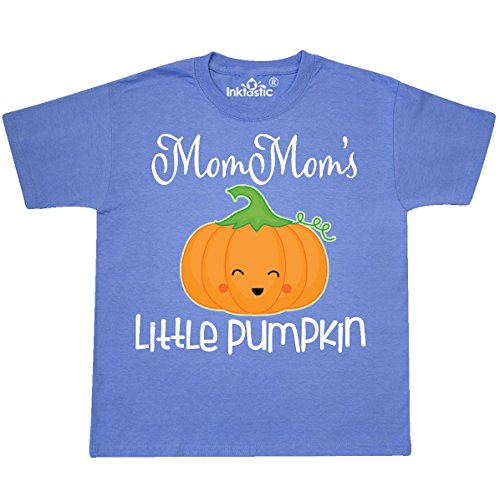 Inktastic - MomMom Little Pumpkin Youth T-Shirt Youth Small (6-8) Columbia Blue (T-shirt Pumpkin Youth)
