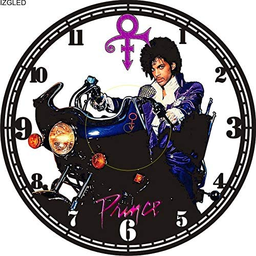 DIY Roger Nelson Prince Purple RAIN Color Decorative Designed Modern Vinyl Record Wall Clock Silent Large New Bedroom Livingroom Office Decore Analog Universal Decorate Your Home