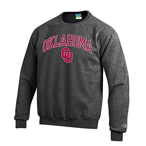 Oklahoma Sooners Mens Sweatshirts - Elite Fan Shop NCAA Oklahoma Sooners Men's Crewneck Charcoal Gray Sweatshirt, Dark Heather, X-Large