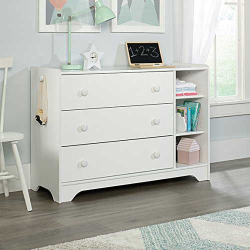 Sauder Pinewheel 3 Drawer Chest in Soft white by Sauder