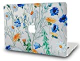 KEC MacBook Air 13 Inch Case Plastic Hard Shell Cover A1369/A1466 (Floral Pattern)
