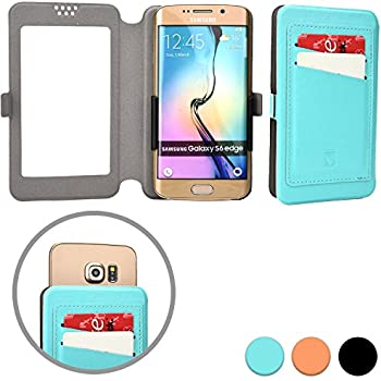 Cooper Cases(TM) Slider Pocket HTC Desire 526G+ Dual Sim Smartphone Wallet Case in Aquamarine