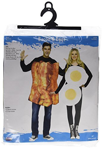 Bacon & Eggs Adults Fancy Dress Couple Pairs Breakfast Food Mens Womens Costumes by Fun (Eggs Couples Costumes)
