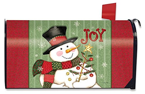 Briarwood Lane Snowman Joy Christmas Magnetic Mailbox Cover Primitive Holiday Standard