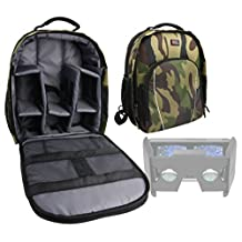 DURAGADGET Premium Quality, Camouflage Water-Resistant Backpack with Customizable Interior & Raincover Compatible with the Speck Pocket VR Virtual Reality Headset