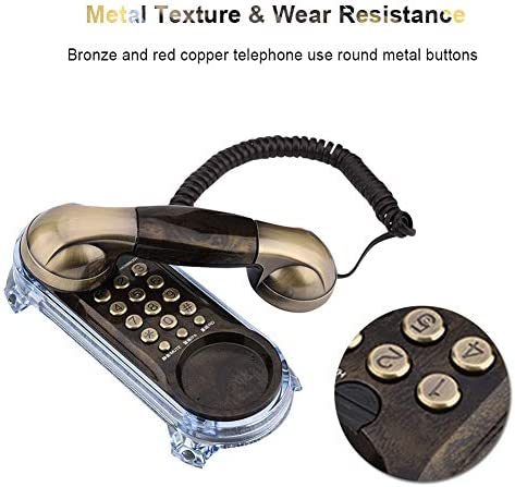 Redial Pause Tone Dialing 1PC Flash Antique Telephones Fashion Hanging Phone Caller Wall Mounted with Blue Backlight Ringtones Adjustment Mute