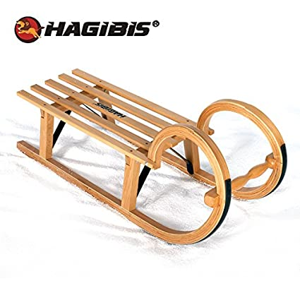 Amazoncom Hagibis Beech Snow Sled Wood Snow Sledge Runner Sled