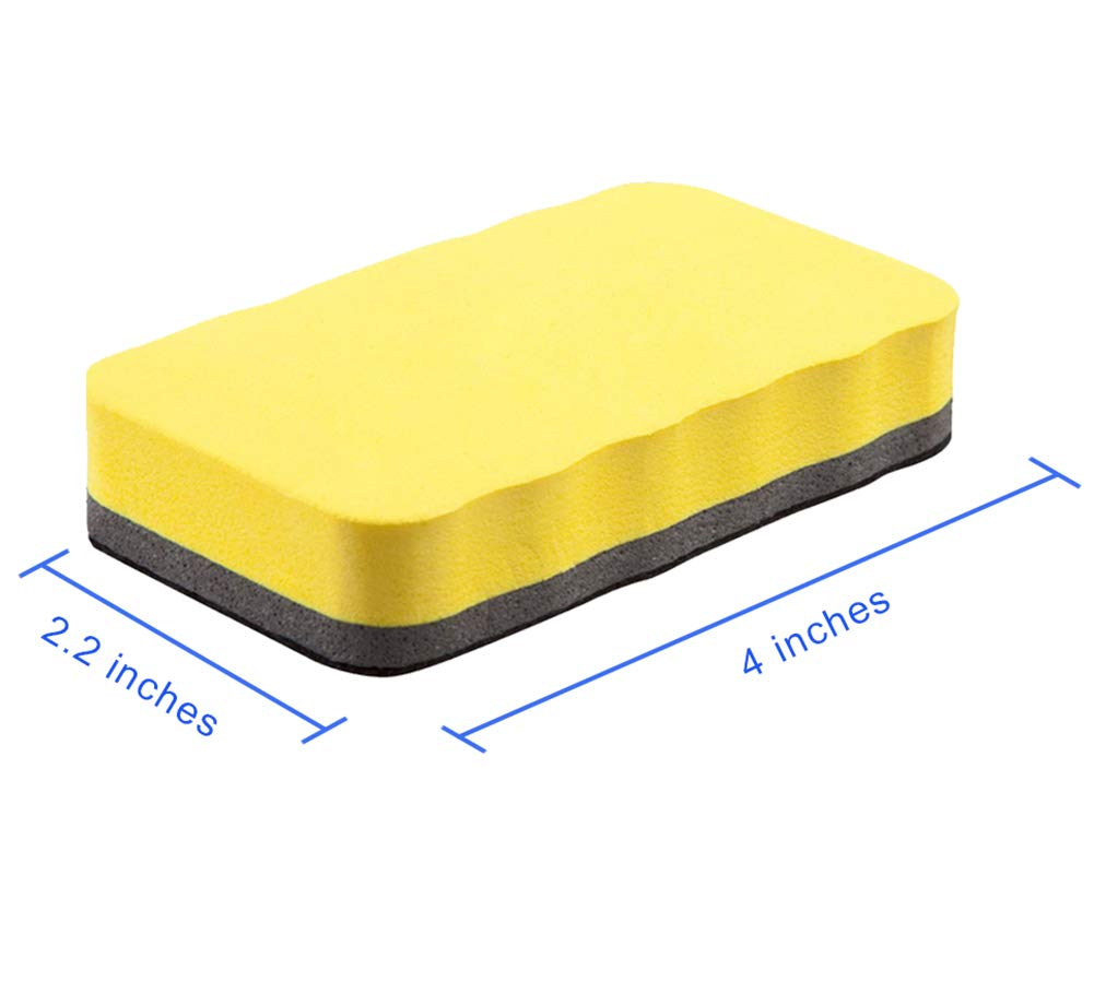 Attmu Magnetic Whiteboard Dry Erasers, 12 Pack - 6 Blue and 6 Yellow, 2.2 x 4 Inches Each by Attmu (Image #3)