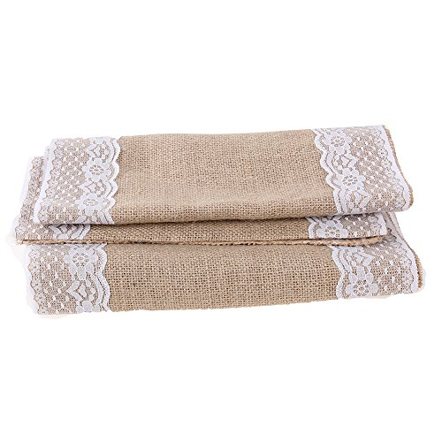 Runner Bag - 1 Roll Table Runners Sack Bags Jute Lace Wedding Christmas Decoration Luxury Burlap Linen Runner 295 - Belt Men Phone Ina For Pack by Unknown (Image #6)