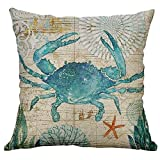 Ottoman for Sale Near Me YOcheerful Cushion Cover, Marine Life Coral Sea Turtle Throw Pillow Case Seahorse Whale Octopus Cushion Cover Sales ! Pillow Cover