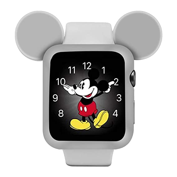 the best attitude f9023 622c3 Apple Watch Case 4 40mm, IWVX Soft Silicone Protective Case Cover Disney  Characters Mickey Mouse Ears Compatible with Apple Watch 4 Case Series 4 ...