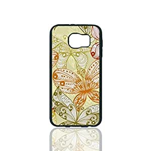 Colorful Butterflies Custom Hard Plastic back Phones Case for Samsung Galaxy S6 - Galaxy S6 Case Cover