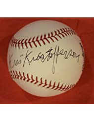 Kris Kristofferson Signed Autographed MLB Baseball Outlaw Country Star B