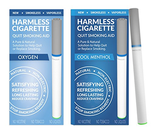 New | Quit Smoking Aid | Stop Smoking Remedy To Help Quit & Reduce Cravings | Natural & Therapeutic Quit Smoking Solution | Harmless Cigarette (2 Pack, Variation Set -, Cool Menthol / Oxygen)