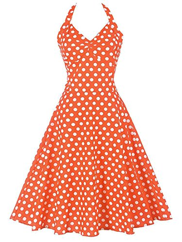 orange 50s dress - 6