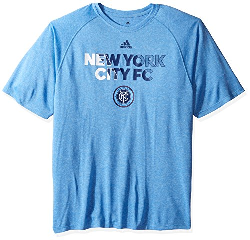 fan products of MLS New York City FC Adult Men Striker S/Climalite Tee,Small,Blue