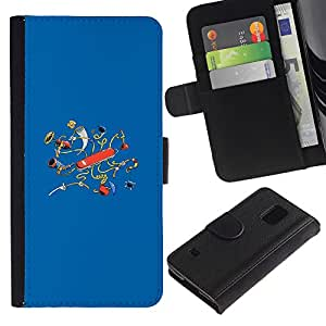 // PHONE CASE GIFT // Moda Estuche Funda de Cuero Billetera Tarjeta de crédito dinero bolsa Cubierta de proteccion Caso Samsung Galaxy S5 V SM-G900 / Swiss Knife /
