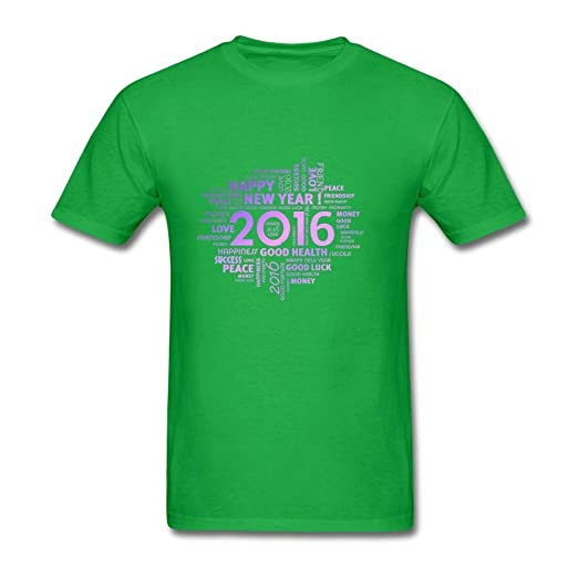 mens happy new year greetings short sleeve t shirt