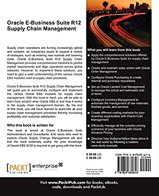 Oracle E-Business Suite R12 Supply Chain Management: Muneeb