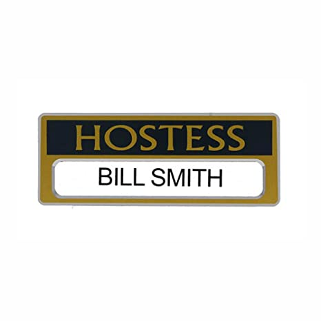 Amazon com : Hostess Name Badges Magnetic, Personalizeable, Church