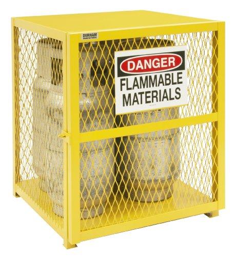 (Durham Steel/Iron Vertical Cylinder Storage Cabinet, EGCVC4-50,  4 Cylinder Capacity,  30