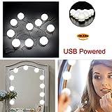 LED Makeup Mirror Light Strip, Ragdoll50 4.6m 10 LED Makeup Mirror Light Strip With Adjustable Hidden Wire for DIY Makeup Cupboard Cabinet Wardrobe Vanity Dressing Table