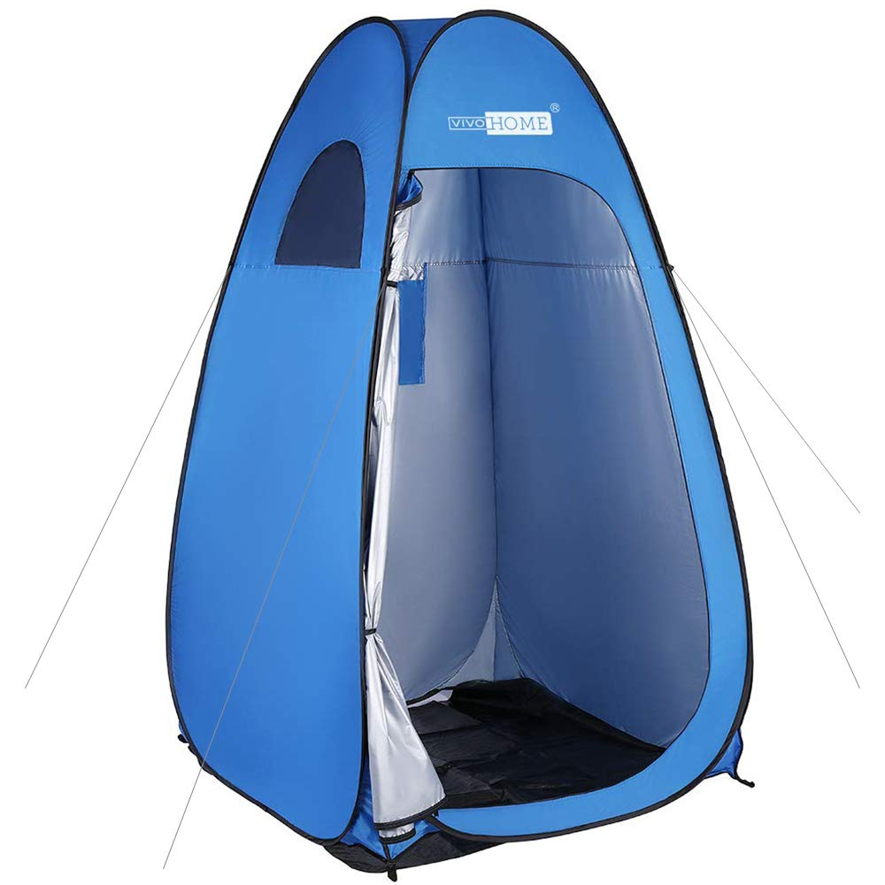 VIVOHOME 7FT Height Privacy Shelter, Portable Easy Pop up Dressing Changing Room, Ultraviolet-Proof Camping Shower Tent by VIVOHOME