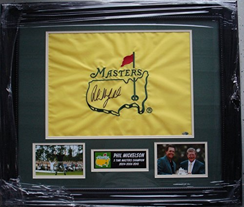 Phil Mickelson Hand Signed / Autographed The Masters Flag - Augusta National ...