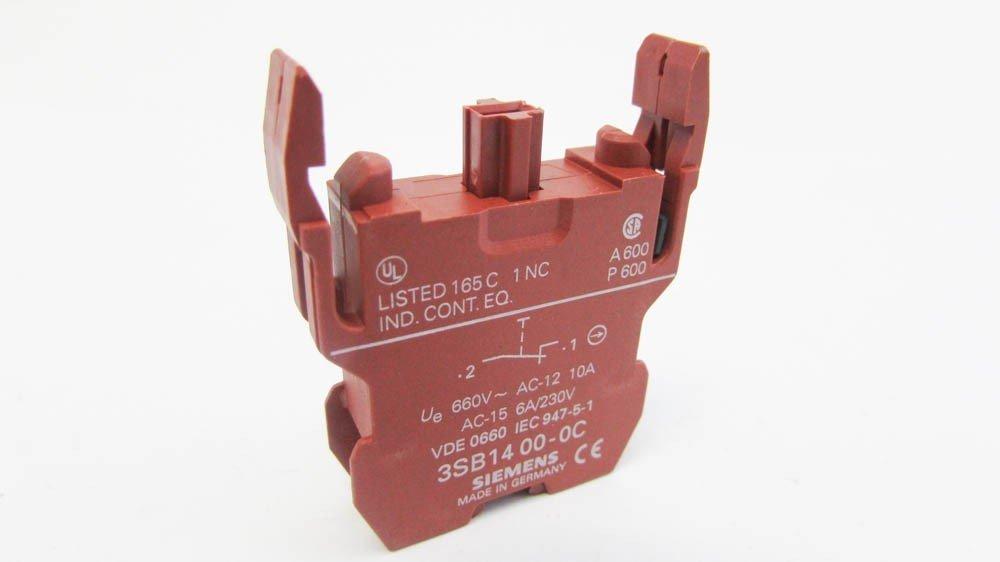 Siemens 3SB14 00-0B 660V AC-12 10A AC-15 6A 230V