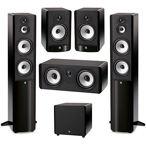 (Boston Acoustics 5.1 System with 2 A360 Floorstanding Speakers, 1 A225C Center Channel Speaker, 2 A26 Bookshelf Speaker, 1 Boston Acoustics ASW250 10 inch Subwoofer )