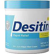 Desitin Daily Defense Baby Diaper Rash Cream with Zinc Oxide to Treat, Relieve & Prevent diaper rash, Hypoallergenic, Dye-, Phthalate- & Paraben-Free, 16 oz